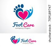 foot care logo template design... | Shutterstock .eps vector #709189747