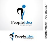 people logo template design... | Shutterstock .eps vector #709189837