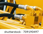 pipes and the hydraulic system... | Shutterstock . vector #709190497