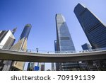 look up at modern city landmark ... | Shutterstock . vector #709191139