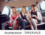 pretty women having party in a... | Shutterstock . vector #709191415