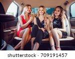 pretty women having party in a... | Shutterstock . vector #709191457