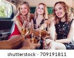 pretty women having party in a... | Shutterstock . vector #709191811