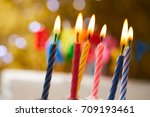 birthday candles | Shutterstock . vector #709193461