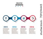 business data visualization.... | Shutterstock .eps vector #709194445