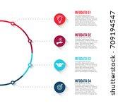 business data visualization.... | Shutterstock .eps vector #709194547