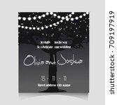 wedding invitation template...   Shutterstock .eps vector #709197919