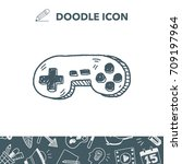 doodle game controller | Shutterstock .eps vector #709197964