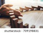 close up of businessman hand... | Shutterstock . vector #709198831