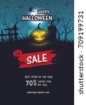 halloween sale . set of vector...   Shutterstock .eps vector #709199731