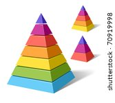 layered pyramids. vector. | Shutterstock .eps vector #70919998