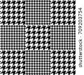asymmetric hounds tooth print.... | Shutterstock .eps vector #709203754
