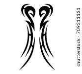 tribal tattoo art designs.... | Shutterstock .eps vector #709211131