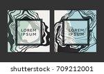 marble vector covers design.... | Shutterstock .eps vector #709212001