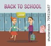 school colored orthogonal...   Shutterstock .eps vector #709213657