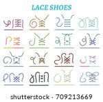 sport shoes sneakers and boots... | Shutterstock .eps vector #709213669