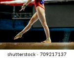 Balance Beam Girl Gymnast To...