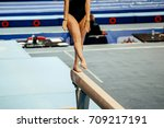 competition in artistic... | Shutterstock . vector #709217191
