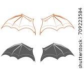 vector illustration of black...   Shutterstock .eps vector #709223584