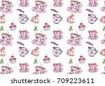 fun kids seamless pattern | Shutterstock . vector #709223611