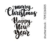 merry christmas and happy new... | Shutterstock .eps vector #709226005
