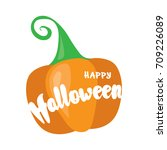 happy halloween post card... | Shutterstock .eps vector #709226089