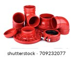 fire protection pipe fittings... | Shutterstock . vector #709232077