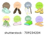 vector illustration of set hand ... | Shutterstock .eps vector #709234204