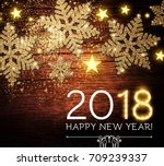 happy new 2018 year background... | Shutterstock .eps vector #709239337