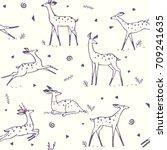 beautiful seamless pattern...   Shutterstock .eps vector #709241635