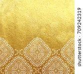 vector golden foil background... | Shutterstock .eps vector #709242319