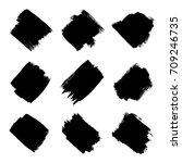 set of hand drawn grunge... | Shutterstock .eps vector #709246735