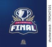 modern professional final cup... | Shutterstock .eps vector #709247101
