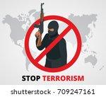stop terrorism concept | Shutterstock .eps vector #709247161