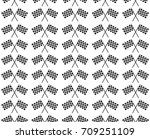 crossed waving black and white... | Shutterstock .eps vector #709251109