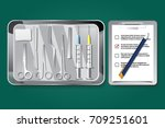 surgery instruments and tools... | Shutterstock .eps vector #709251601