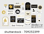 abstract black  white and gold... | Shutterstock .eps vector #709252399