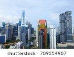 Cityscape View Of Singapore City