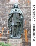 statues at hohenzollern castle  ...   Shutterstock . vector #709257601