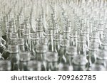 a lot of empty glass bottles.... | Shutterstock . vector #709262785