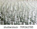 a lot of empty glass bottles.... | Shutterstock . vector #709262785