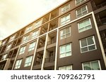 new modern apartment building | Shutterstock . vector #709262791