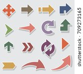 arrow sign icon set.  | Shutterstock .eps vector #709273165