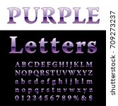 purple alphabet  fat purple... | Shutterstock .eps vector #709273237