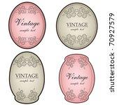 floral vintage labels   Shutterstock .eps vector #70927579