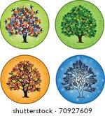 four seasons  trees in spring ... | Shutterstock . vector #70927609