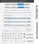web 2.0 interface part 3. white ... | Shutterstock .eps vector #70928074