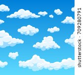 cloud seamless vector... | Shutterstock .eps vector #709280791