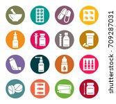 pharmacy icons | Shutterstock .eps vector #709287031