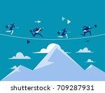 business people running over...   Shutterstock .eps vector #709287931